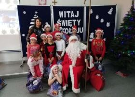Święty Mikołaj w Szkole Podstawowej w Łupicach