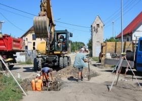 Ulica Bursztynowa w budowie