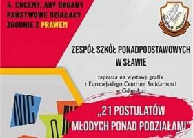 """Wystawa """"21 postulatów Młodych Ponad Podziałami"""""""