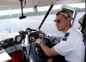 Ćwiczenia na Jeziorze Sławskim