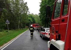 Wypadek samochodowy na drodze nr 278